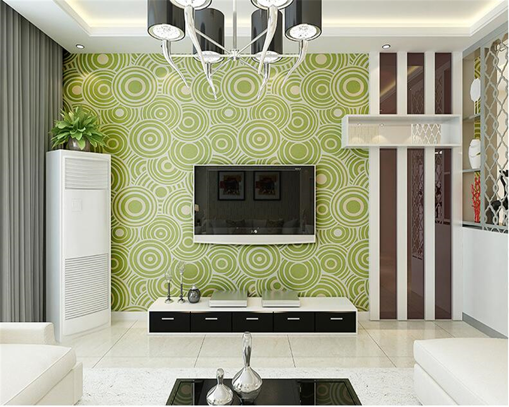 цена на beibehang Modern simple living room TV background papel de parede wallpaper fashion three - dimensional circle thick wall paper