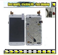 White Original LCD Display +Digitizer touch Screen FOR zopo C2 zp980 C3 Assembly with frame/bezel flex cable.