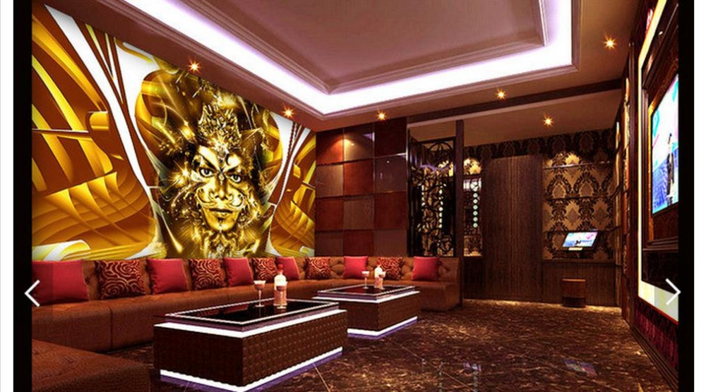 Customized 3d Photo Wallpaper Wall Mural Background Music Singer KTV Decoration Living Room