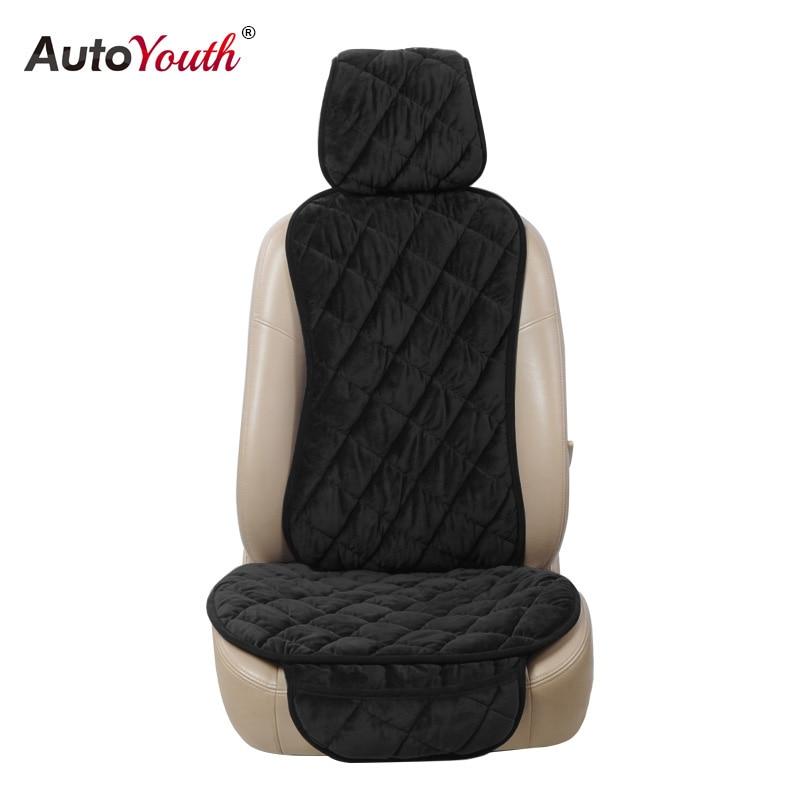 Cojines de asiento de coche de terciopelo Universal AUTOYOUTH asiento cubierta de asiento de coche Styling accesorios interiores para renault logan