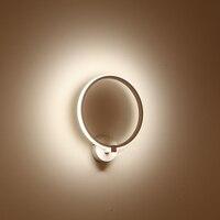 Design nórdico moderno branco preto conduziu a lâmpada de luz parede arandelas luminárias para loft decoração quarto escadas casa