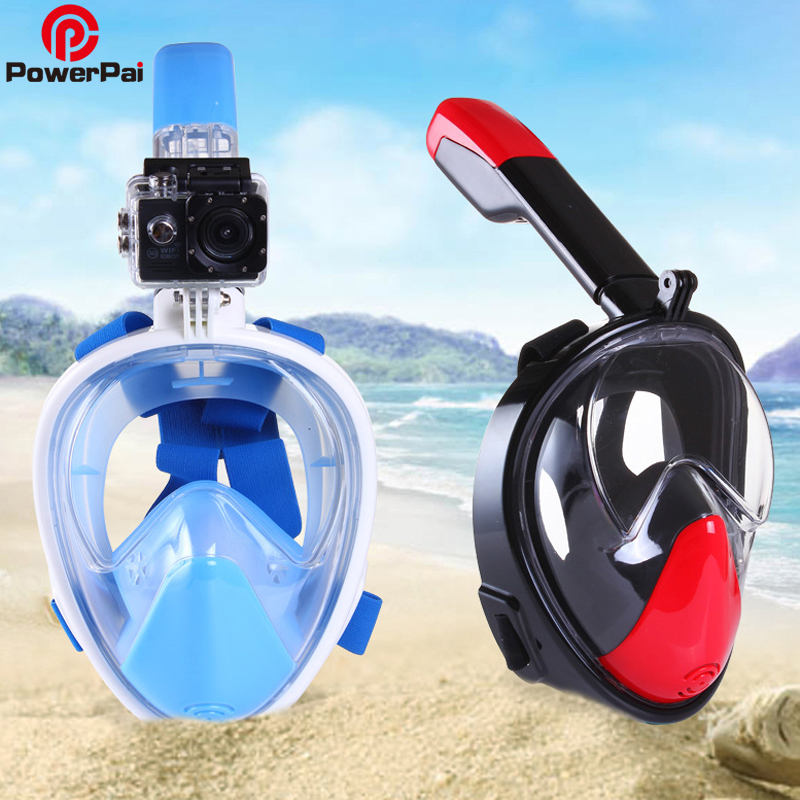 2017 Underwater Full Face Snorkeling Mask Anti Fog Scuba Diving Mask For Gopro Free Easy Dry Breath Spearfishing mergulho buceo underwater diving mask snorkel set swimming training scuba mergulho full face snorkeling mask anti fog gopro camera dropshipping