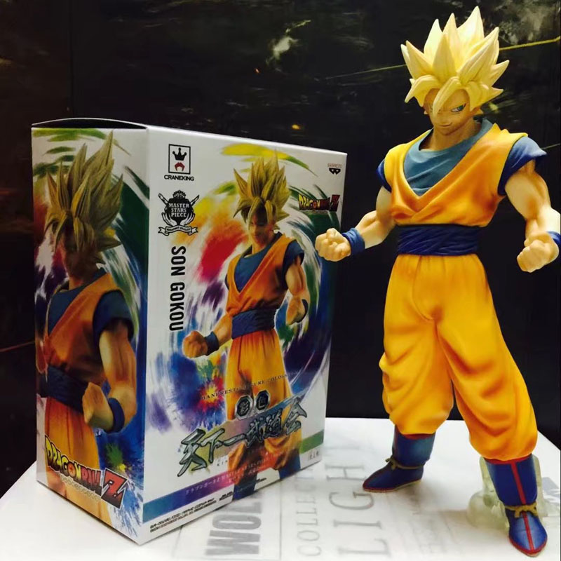 Free Shipping 11 Dragon Ball Z Anime Super Saiyan Son Goku Gokou Big Boxed 28cm PVC Action Figure Collection Model Doll Toy genuine bandai exclusive tamashii nation 10th anniversary s h figuarts dragon ball z son gokou goku kaiohken ver action figure