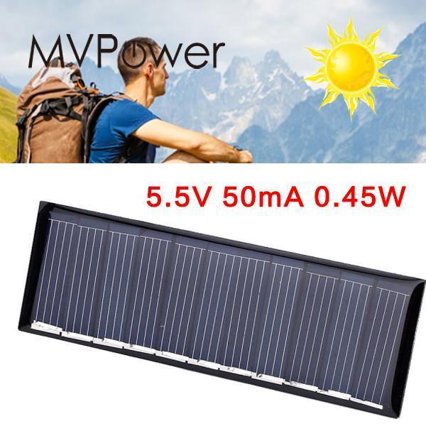 5Pcs DC 5.5V 0.45W 50mA Mini Solar Panel Polycrystalline Silicon Module System Black Portable Drop Shipping HIgh Quality DIY