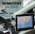 Ipad car display mount Tablet security stand holder metal case rack protect for Ipad 2/3/4 with 360 rotation adjustable tuble