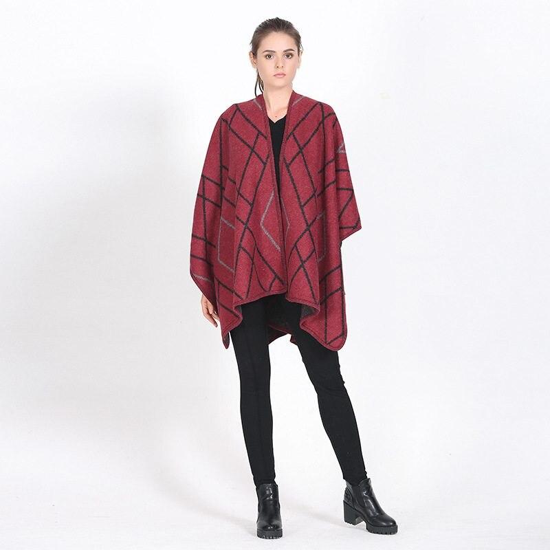 Women Cashmere Scarf Luxury Brand Rhombus font b Tartan b font Foulard Thick Pashmina Shawls Winter