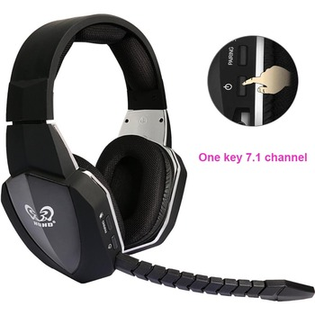 HUHD HW-N8 Profession 7.1 Surround Sound Stereo Optical Fiber 2.4G Wireless Gaming Headset for Xbox One 360 PS4 PC Gamer PUBG