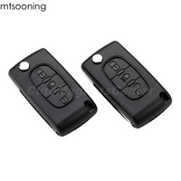 2pcs 433MHz 3 Buttons Remote Key ID46 PCF7941 Chip CE0523 VA2 Uncut Blade Remote Key For Citroen C2 C3 C4 C5