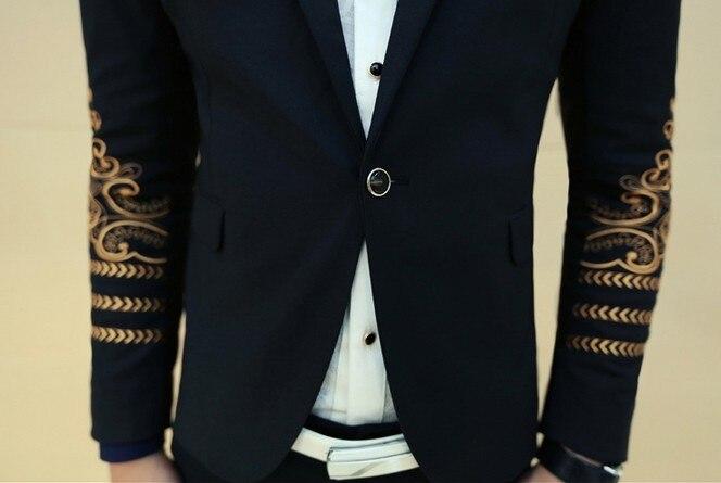 bleiser masculino blaser Royal Dress Jackets For Men Prom Suits