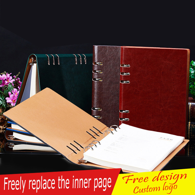 US $12 25 |School Office A5 A4 B5 A6 Hardcover Notebook, Journal Gifts for  Teacher Students , Black Wine Green Blue Coffee give a pen -in Notebooks