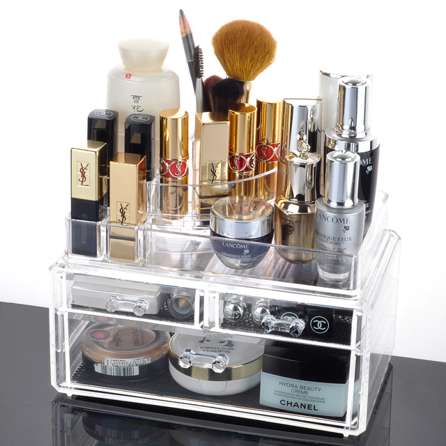 Stackable Cosmetic Organizer Makeup and Jewelry Organizer 3 Jewelry