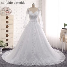 Vestido de Noiva Sayang renda Appliques gaun pengantin, Gelinlik sabuk dilepas, Gaun pengantin 2018 Trouwjurken Hochzeit