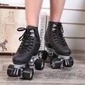 Patines patines renee double line blanco double europea y Modelos americanos De Carreras de F1 de la Hembra Adulta 4 Ruedas de Rodillos zapatos