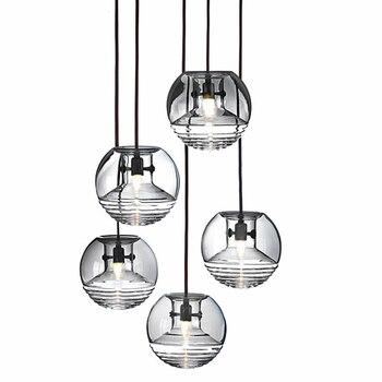 โมเดิร์นแก้วลายน้ำจี้ไฟแสง hanglamp loft โคมไฟตกแต่งโคมไฟแขวนโคมไฟห้องนั่งเล่นห้องนอน