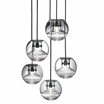 Marca d' água de vidro simples e moderno pingente luzes luz led hanglamp loft decoração lâmpadas luminárias lâmpada pendurada sala de estar Quarto