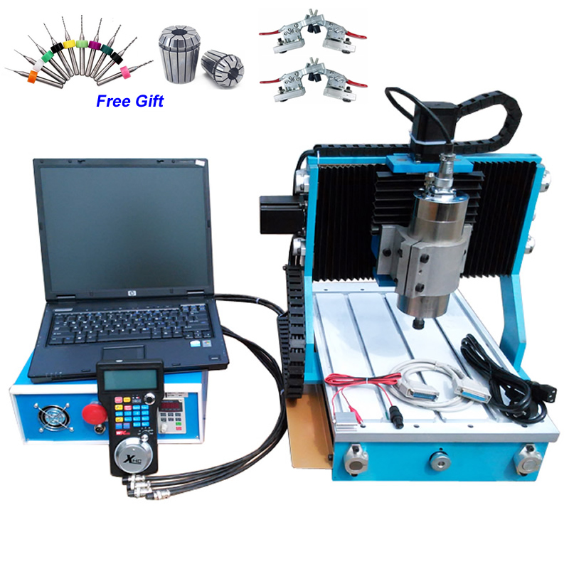 цена на MINI CNC Router 3040 Metal Cutting Machine CNC3040 800W Water Cooled Spindle CNC Machine