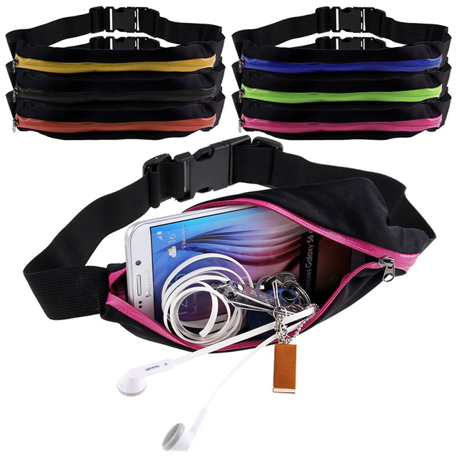 New Outdoor Running Waist Bag Waterproof Mobile Phone Holder Jogging Belt Belly Bag Women Gym Fitness Bag Lady Sport Accessories 4