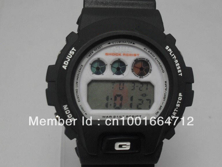 Free shipping 21pcs,most popular sports g watch 6900,7900 for teenager, shining band (by Epacket or airmail no shocked box)