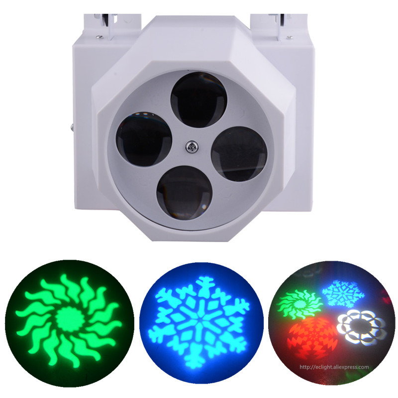 4 pieces 4 eyes led gobo light 15W LED pattern spot light KTV Night Club Bar Party effect lights