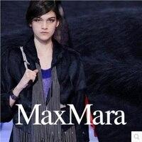 Double face long hair Suri alpaca cashmere wool coat fabric fabrics 704grams per meter