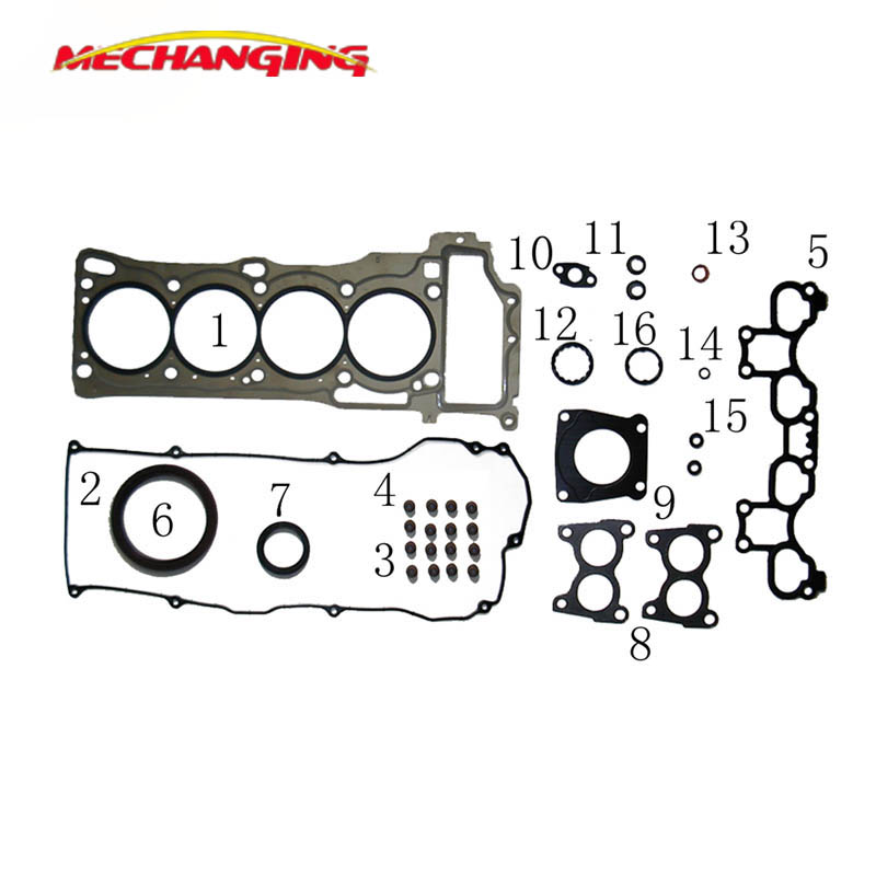For NISSAN ALMERA JP Engine seal Gasket sets QG18DE CAR