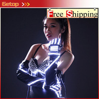 ZX Stage Costumes LED Glove For Christmas Decoration Lighter Glove Laser Glove Event Party Supplies 5