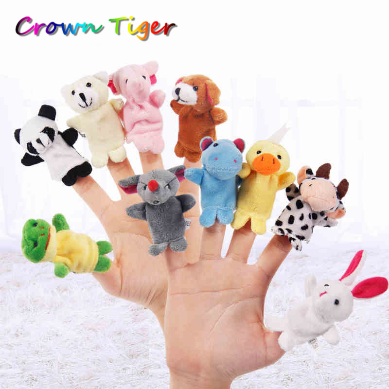 kids Cartoon Animal Finger Puppet Finger Toy Finger Doll Baby Dolls Toys infant Animal Doll Party Supplies developmental toys big plastic crowbar