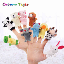 baby Playpen kids Cartoon Animal Finger Puppet Finger Doll toy Baby Dolls Toys infant Party Supplies developmental toys