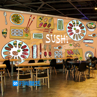 Free Shipping A Large Three Dimensional Characteristics Of Japanese Sushi Restaurant Delicacy Wallpaper Wallpaper Restaurant Sna
