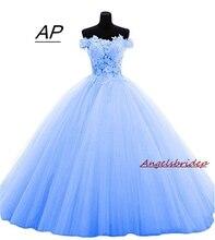 ANGELSBRIDEP Boat Neck Quinceanera Dresses 15 Party Sexy Lace Applique Court Train Luxury 2020 Vestido Debutante Gowns Plus Size