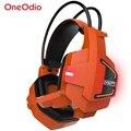 Fones de ouvido de jogos usb levou para pc xbox one jogos ps4 fones de ouvido com Microfone LED Fones de Ouvido Gamer para Video Game E-Sport PS4