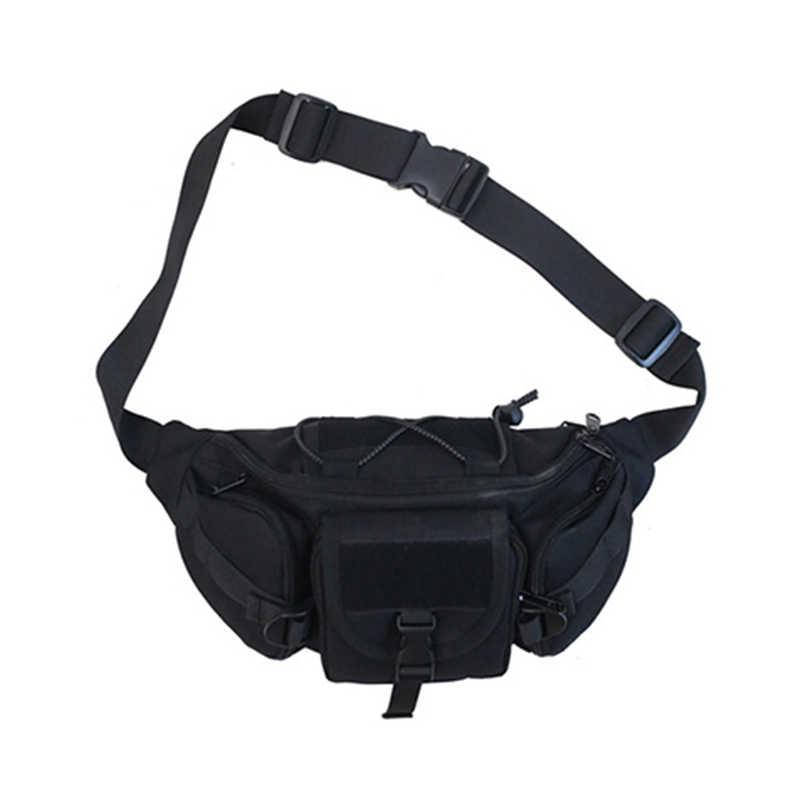 屋外の戦術的なウエストパックストリート機能胸バッグパック戦術的なウエストバッグ男性キャンプハイキングファッションポーチショルダー