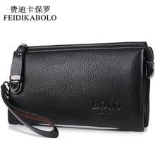 FEIDIKABOLO Famous Brand Men Wallet Luxury Long Clutch Handy Bag Moneder Male Leather Purse Men's Clutch Bags carteira Masculina