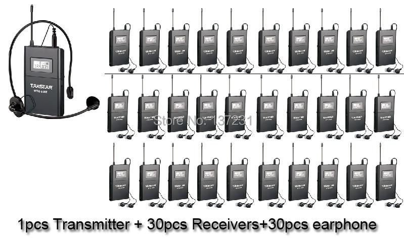 Hot 1Transmitter+30 Receivers Takstar WTG 500 Wireless