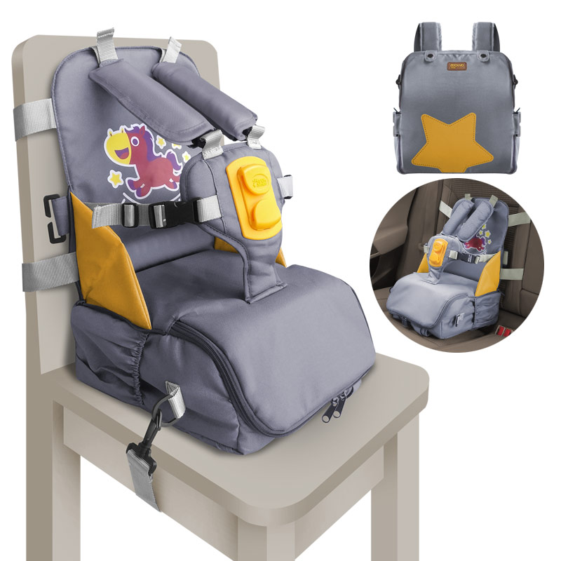 3 In 1 Multi-function For Storage And Carry With Shoulder Pad & High Density Seat Strap Adapters Kids Portable Baby Booster Seat