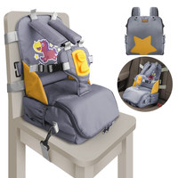 3 in 1 On The Go Booster seatdining chair Diaper Mommy Bag Portable Child Seat with Harness infant toddler seat for restaurant