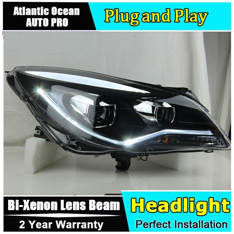 Phare de voiture style LED pour Opel Insignia phares 2014 2015 nouveauté LED drl HID KIT bi xénon lentille feux de croisement - 2