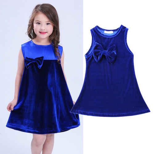 890d021ec00 ... Фирменная Новинка 2018 pudcoco Новые поступления одежда для малышей с  бантом для девочки летнее праздничное платье ...