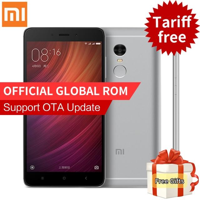 """Оригинал xiaomi redmi note 4 pro простые мобильного телефона 3 ГБ ram 64 ГБ rom mtk helio x20 дека core 5.5 """"FHD 4 Г FDD LTE Отпечатков Пальцев ID"""