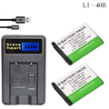 2x Li-40B/LI-42B LI40B LI42B батареи + ЖК-USB зарядное устройство для Olympus для Nikon EN-EL10 EN EL10 ENEL10 Pentax D-Li63/Fuji NP-45