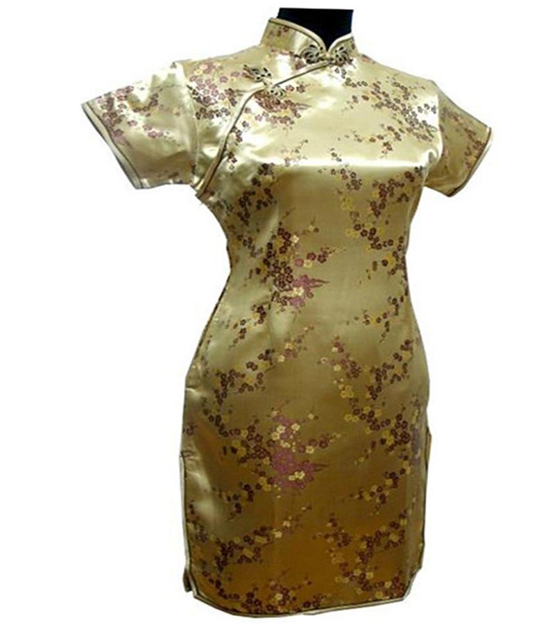 Ny Svart Rød Kinesisk Tradisjonell Kjole Kvinners Silke Cheongsam - Nasjonale klær - Bilde 2