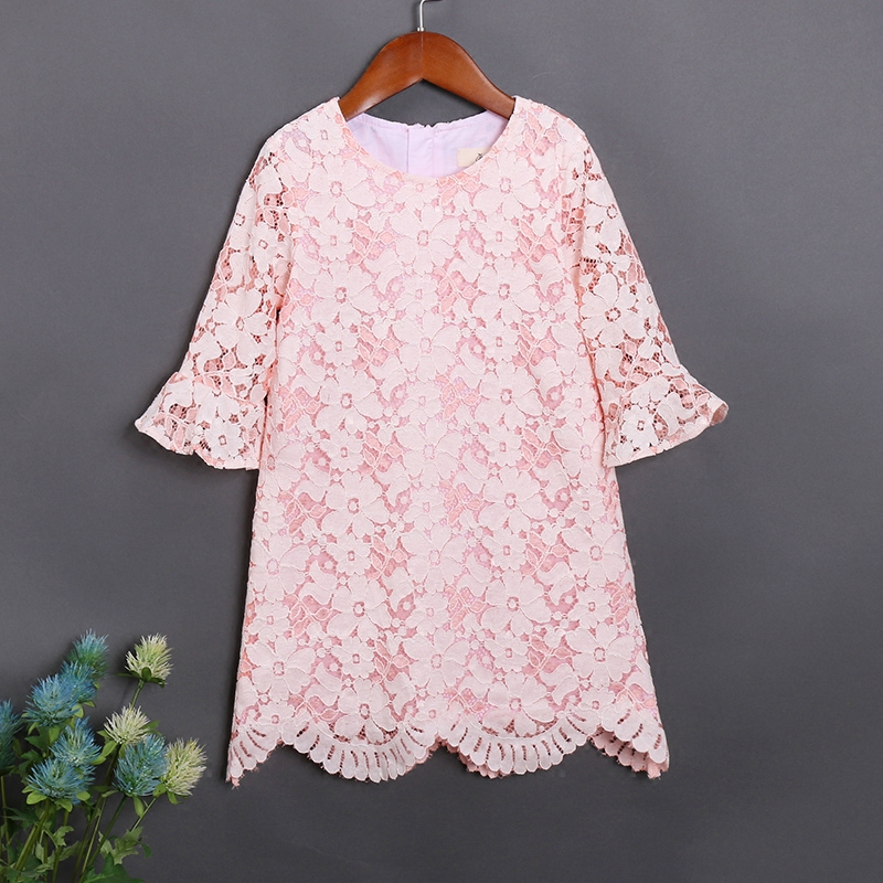 Autumn children clothing formal lace party dress mother daughter fashion skirts mom and baby girls dress family matching outfits