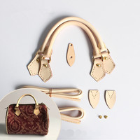 bag handle 100% genuine leather luxury brand handbag DIY handle sets really oxidation cow leather accessory bags parts