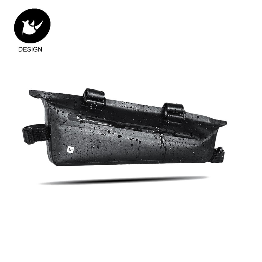 Waterproof Rubber Zipper Bicycle Front Beam Triangle Frame Bag Waterproof TPU Mountain Road Bike Long-distance Riding Saddle Bag