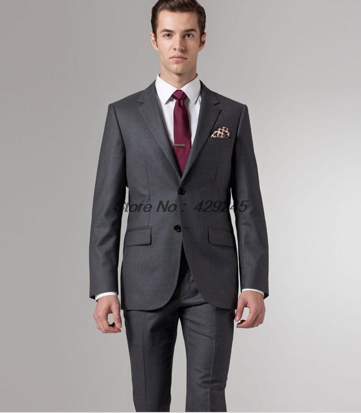 Dark Grey Men Suit - Hardon Clothes