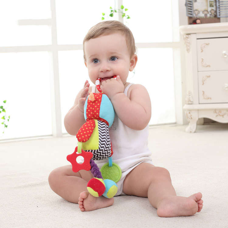 Early Childhood Education Bed Hanging Baby Toys Baby Molars BB Stick With Gum Robot Doll Multifunctional Toys