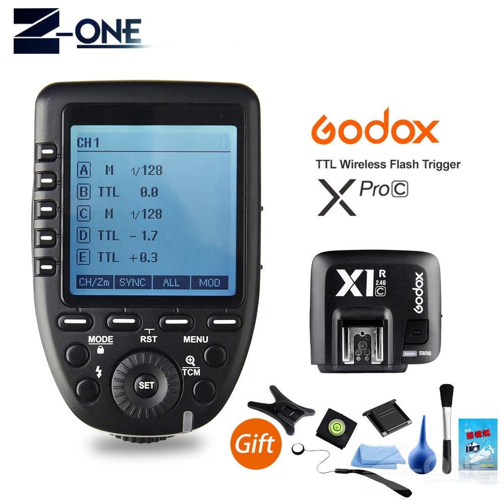 Godox Xpro-C E-TTL II 2 4G X система беспроводного управления дистанционный триггер с X1R-C приемником контроллера совместим с Canon Flash
