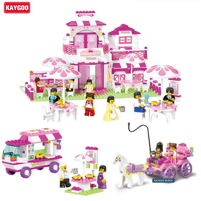 Kaygoo friends Romantic Castle Princess palace Educational Toys girls Building Blocks Sets DIY Brick Kids Toys Christmas Gifts
