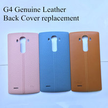 Yamerepair Original New Back Cover for Lg g4 Genuine Leather Battery Cover replacement for G4 all Version with NFC(China)