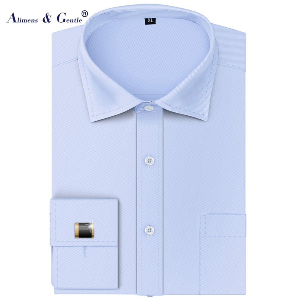Mens Dress Shirt With Cufflinks Long Sleeve For Party